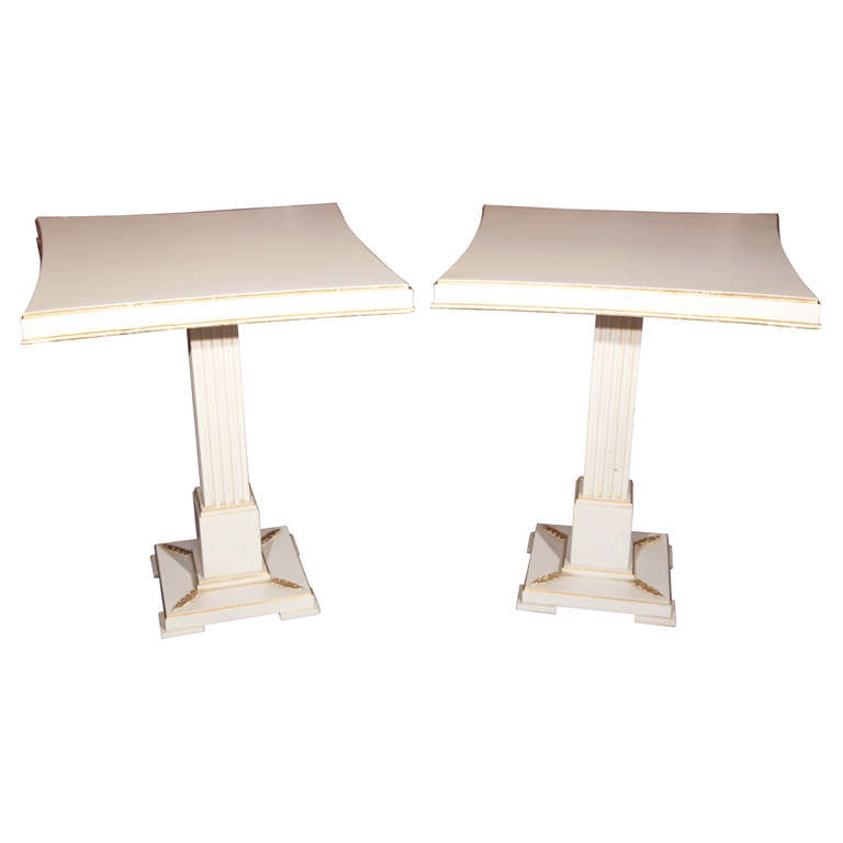 Pair of Grosfeld House Painted End Tables