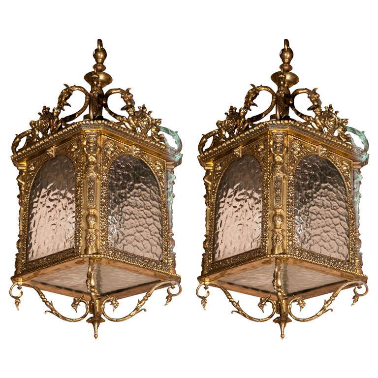 Gilt Bronze Lantern For Sale