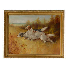 Large Painting of Sporting Dogs