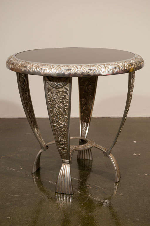 ornate cast metal art deco cocktail table at 1stdibs. Black Bedroom Furniture Sets. Home Design Ideas