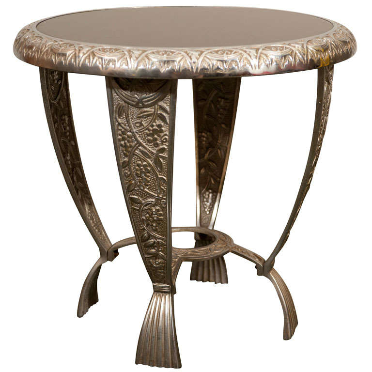 Ornate Cast Metal Art Deco Cocktail Table At 1stdibs