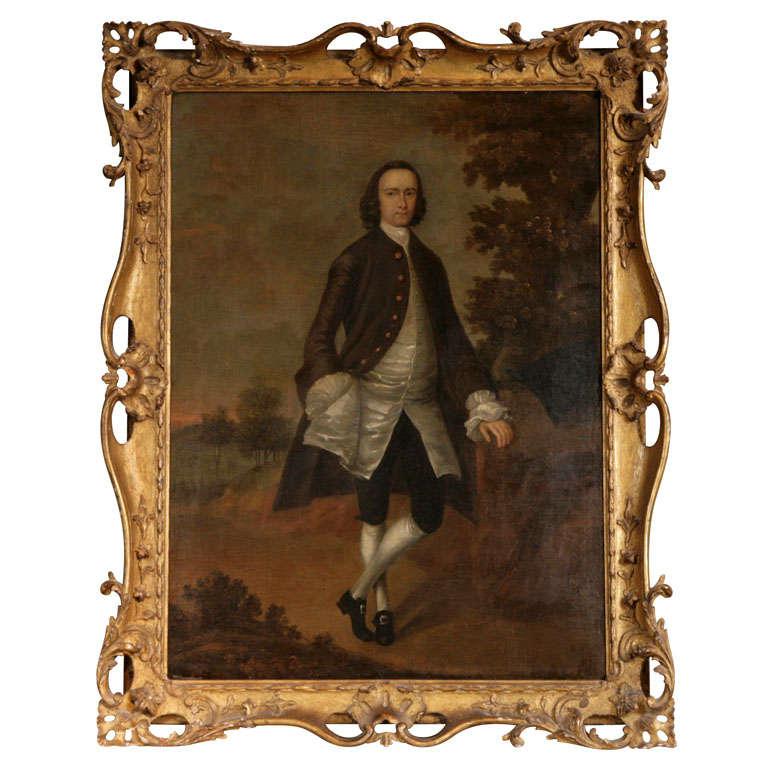 An Arthur Devis Portrait of a Gentleman