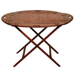 An Early Mahogany Butlers tray