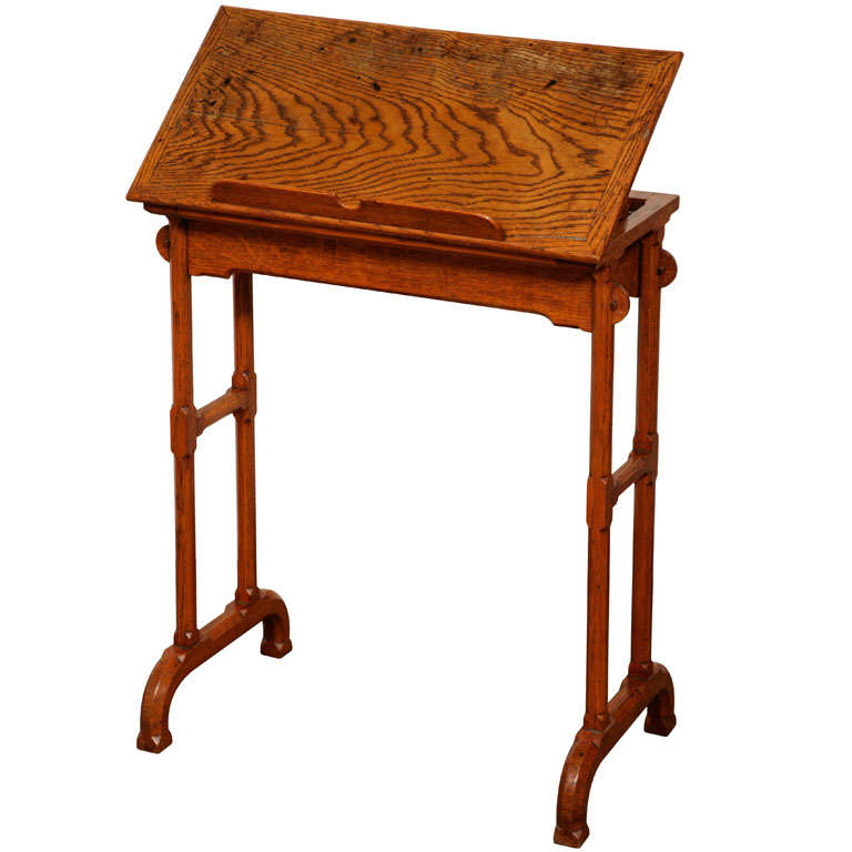 Small Oak Arts And Crafts Side Table For