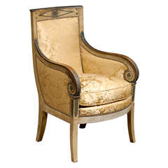 18th century french louis xvi painted fauteuil at 1stdibs. Black Bedroom Furniture Sets. Home Design Ideas