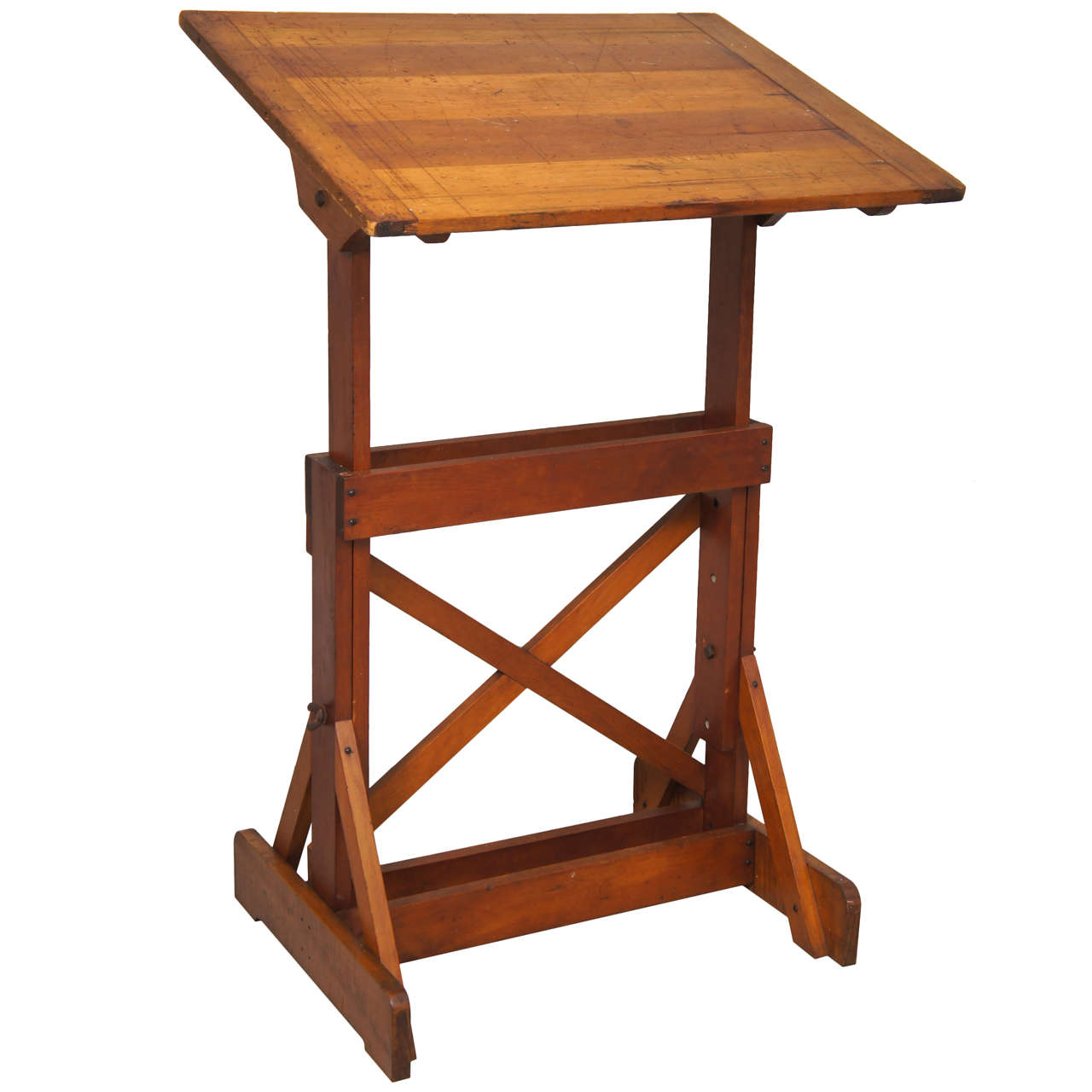 1940s Industrial Wood Drafting Table At 1stdibs