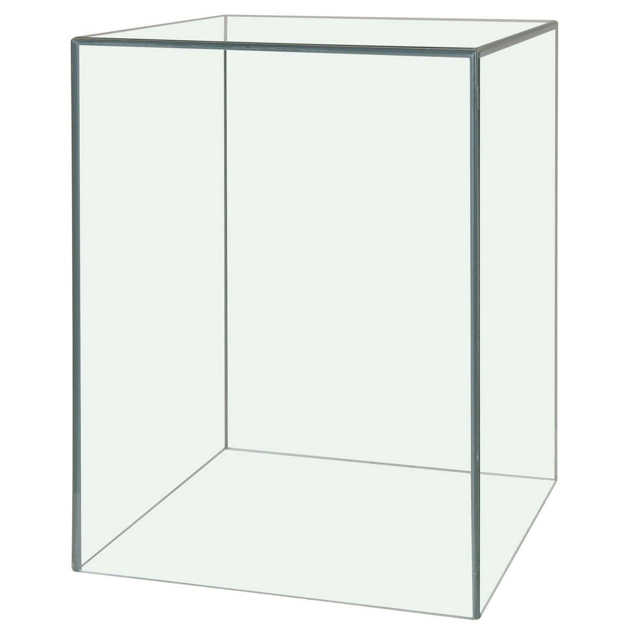 Mid century glass cube side table at 1stdibs for Cube side table