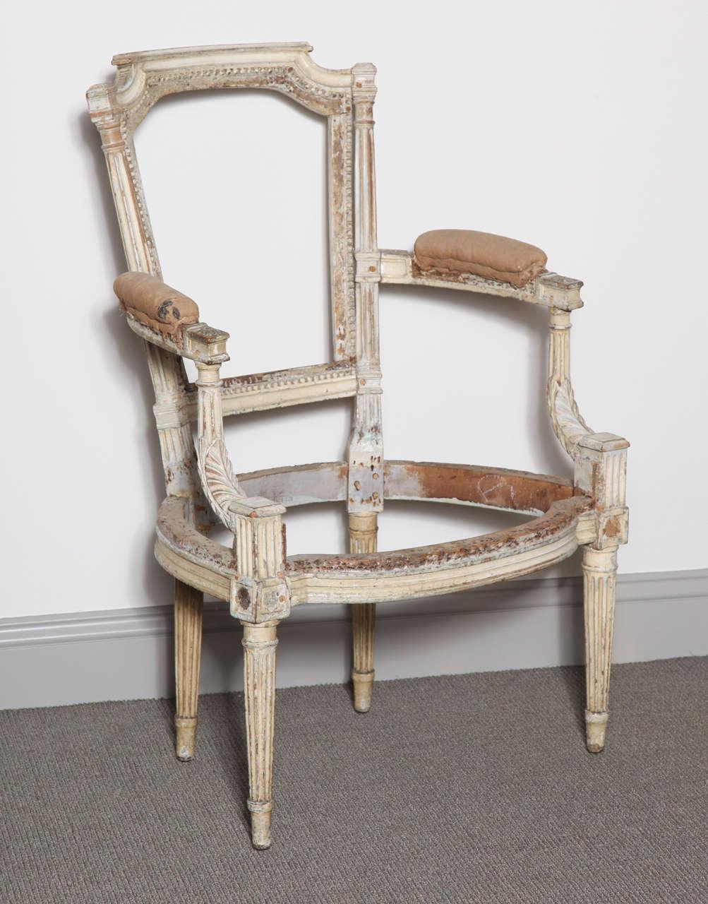 louis xvi chair frame for sale at stdibs - louis xvi chair frame