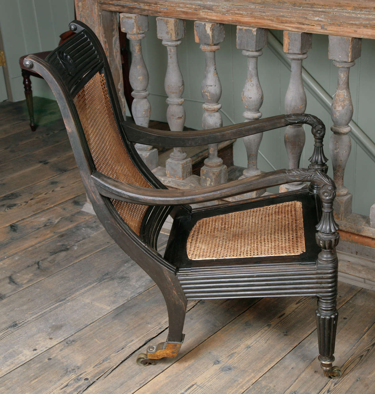 Unusual 19th Century Anglo Indian Ebony Elbow Chair At 1stdibs