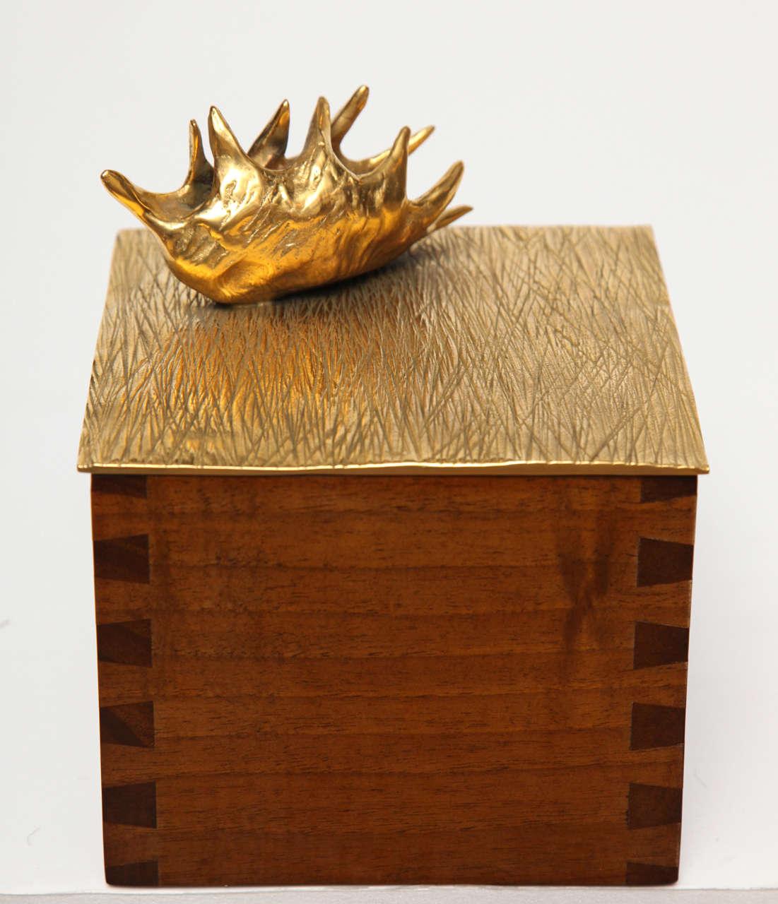 """Aldus, """"Dionaea,"""" Bronze an Oak Box, Italy, 2013 3"""