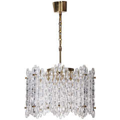 Orrefors Crystal Eight-Panel Chandelier by Carl Fagerlund
