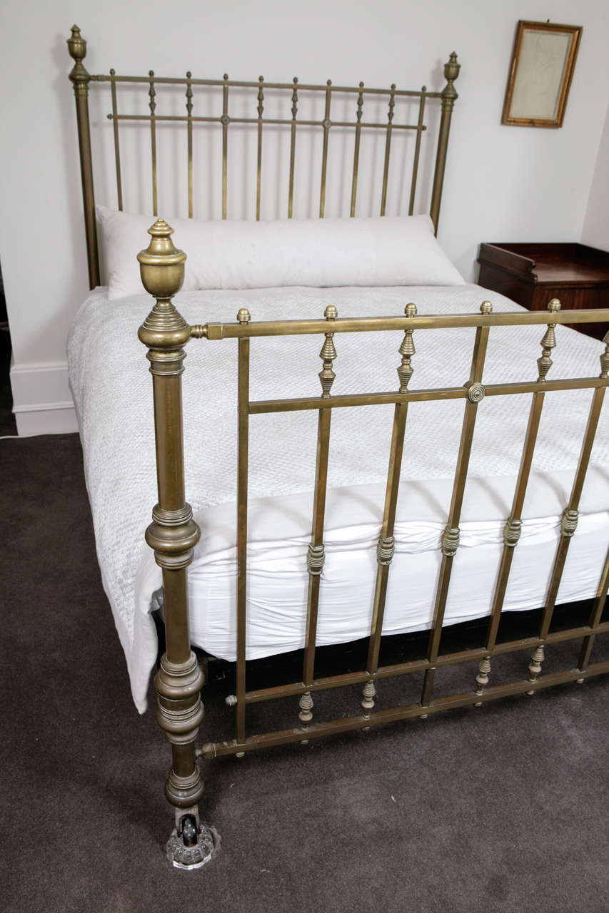 A Maple & Co Victorian King Size Brass Bed 2 - A Maple And Co Victorian King Size Brass Bed At 1stdibs