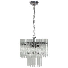 1970s Chrome and Glass Fixture