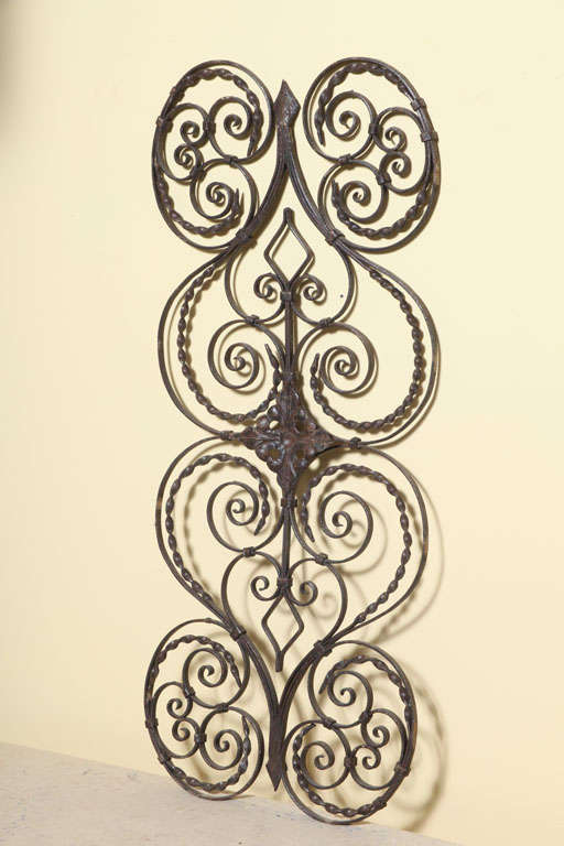 Elegant Iron Wall Decor : Elegant pair of antique hand twisted iron wall hanging at