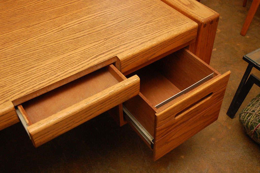 Solid Oak Desk By Lou Hodges For Design Group San Diego At 1stdibs