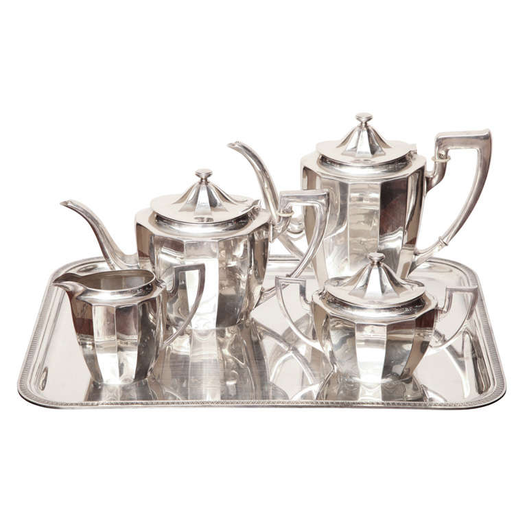 Art Deco Coffee/Tea Service By Quist At 1stdibs