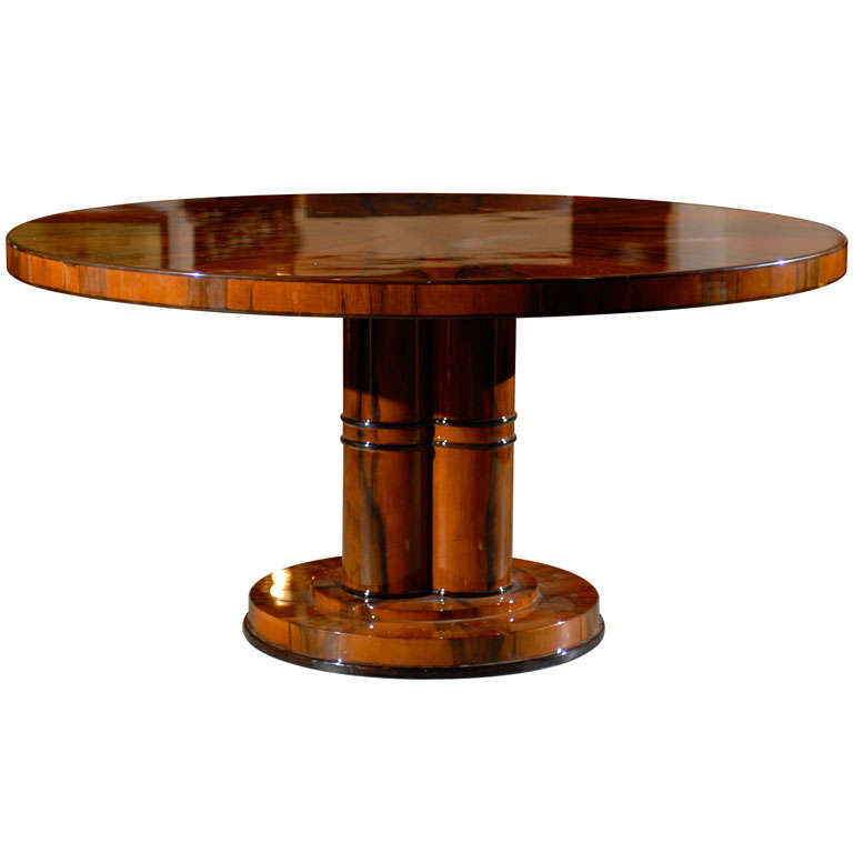 French Circular Art Deco Dining Table 1