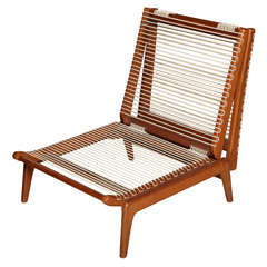 Mid-20th Century Cherrywood Folding Chair