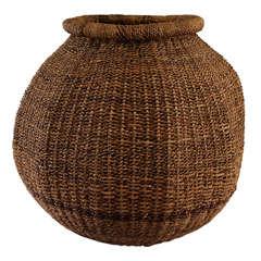 Large Woven Ovoid Basket
