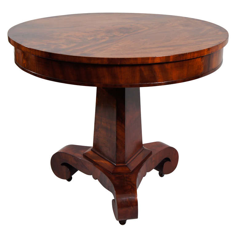 American Empire Pedestal Table