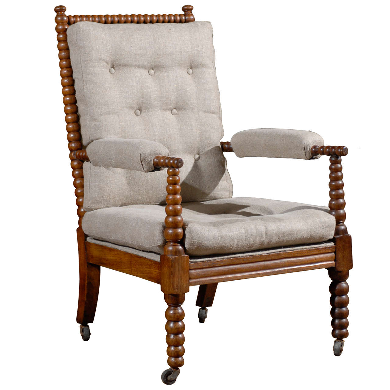 english hand carved and turned bobbin chair at 1stdibs