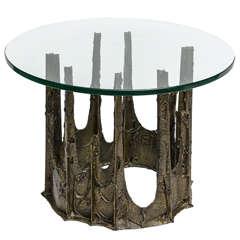Paul Evans Sculptured Metal Side Table