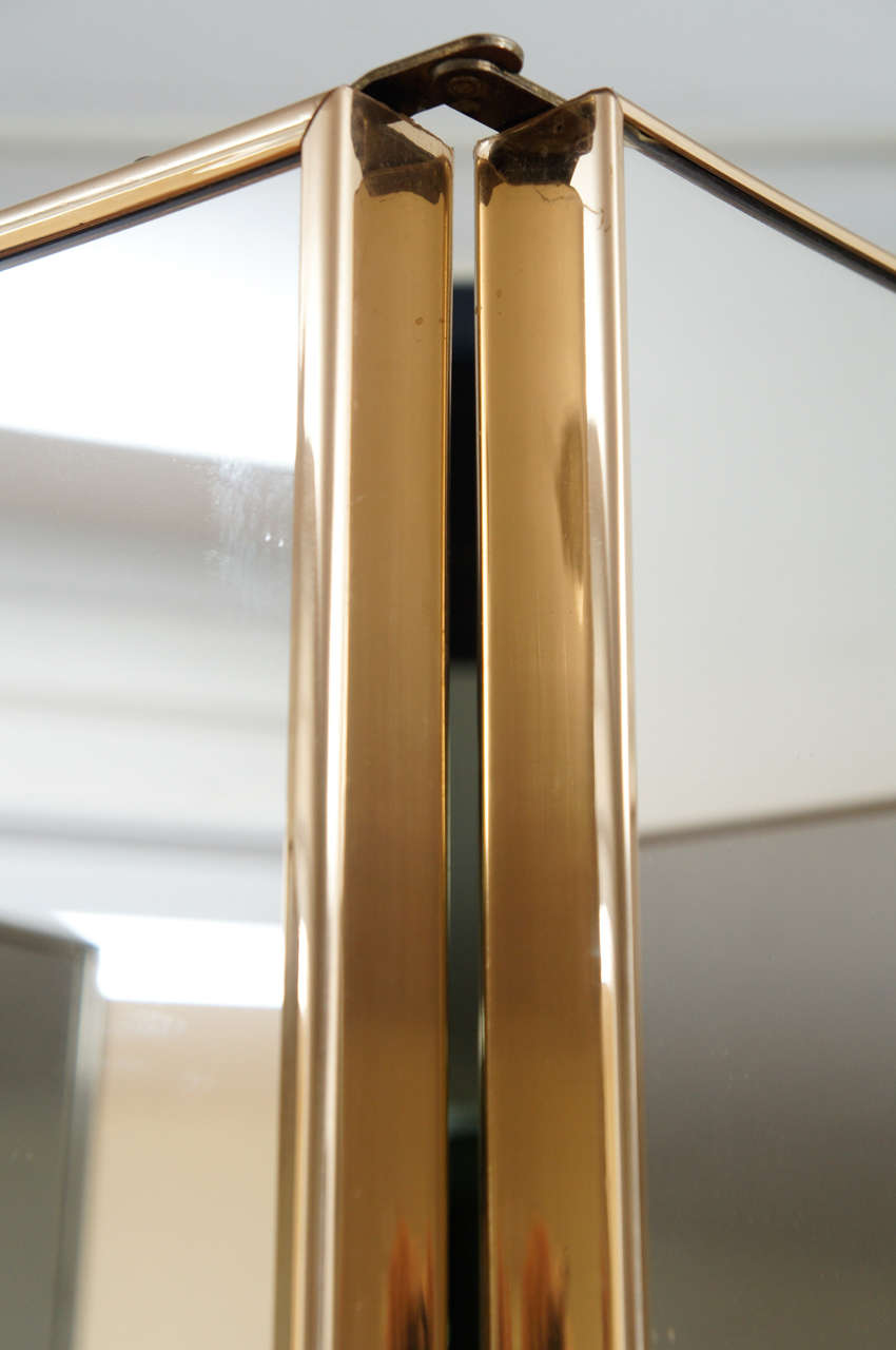 70 S Four Panel Double Sided Mirror Screen At 1stdibs