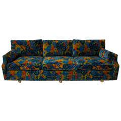 mid century 70's Jack Lenor Larsen Velvet Sofa