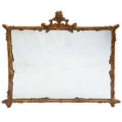 Gold gilded wood mirror