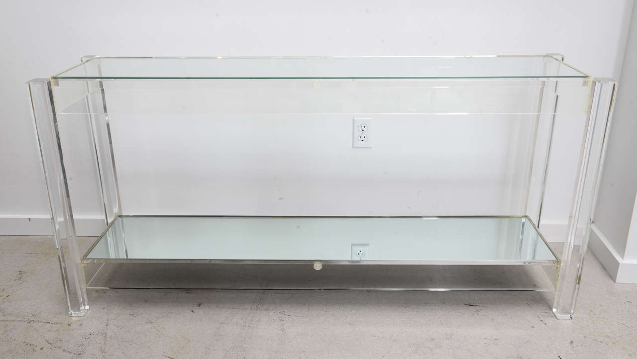 Popular 230 list lucite console table for Small acrylic console table