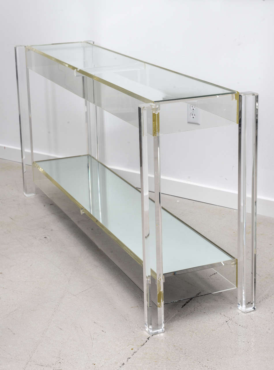 Vintage Lucite Console Table At 1stdibs