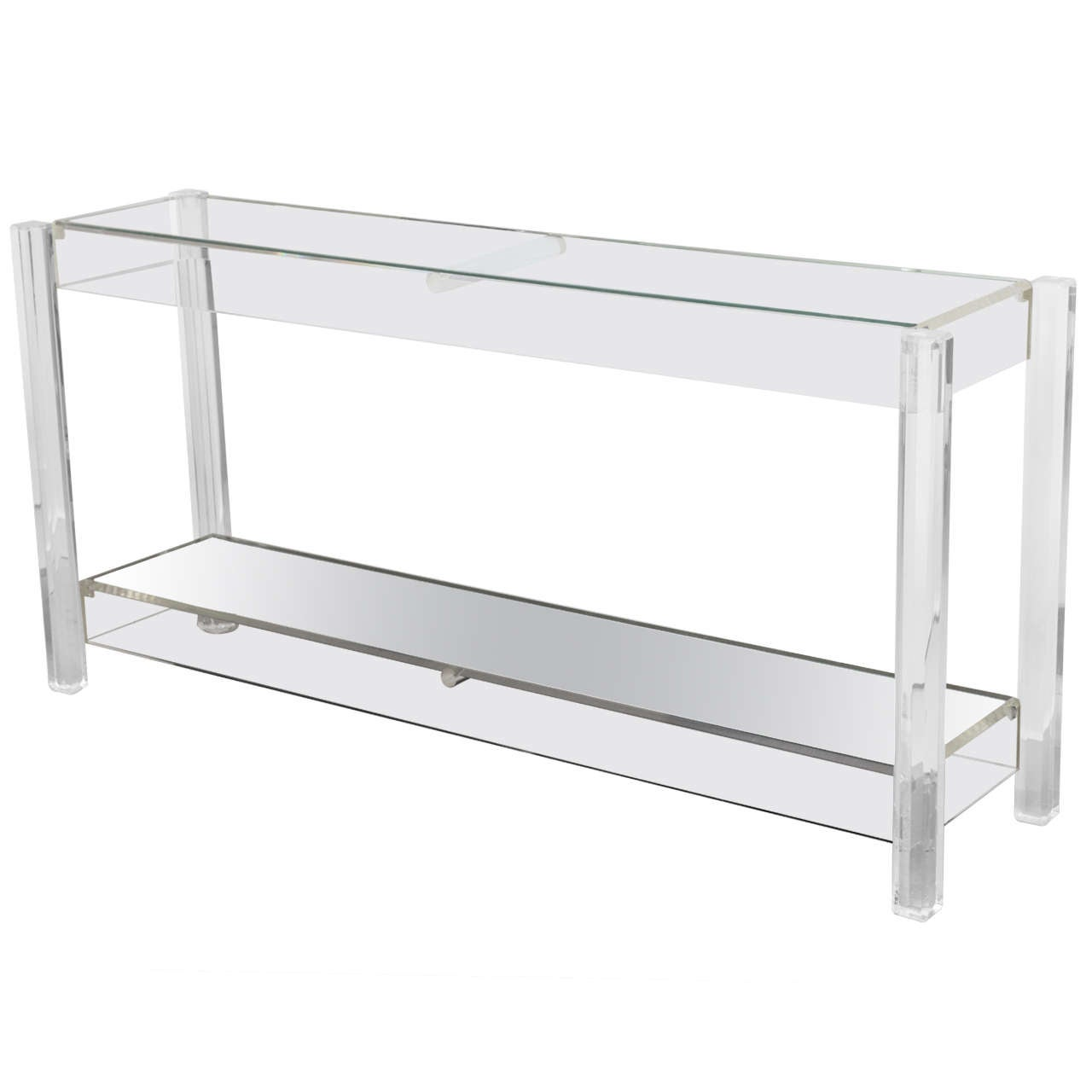 Lucite sofa table vintage lucite console table at 1stdibs for Small acrylic console table