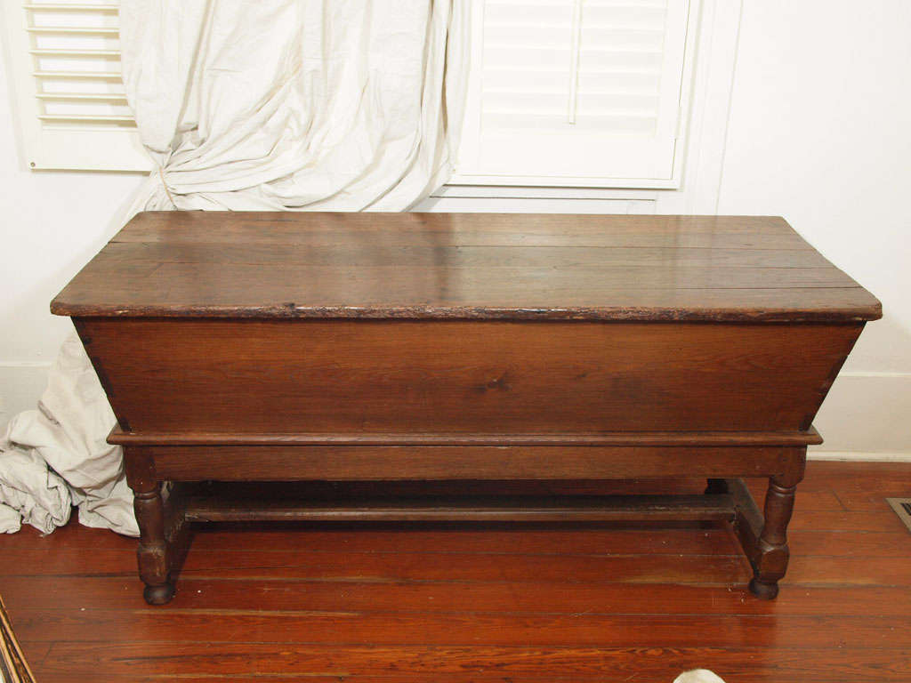 Antique French Kneading Dough Trough or Box 9