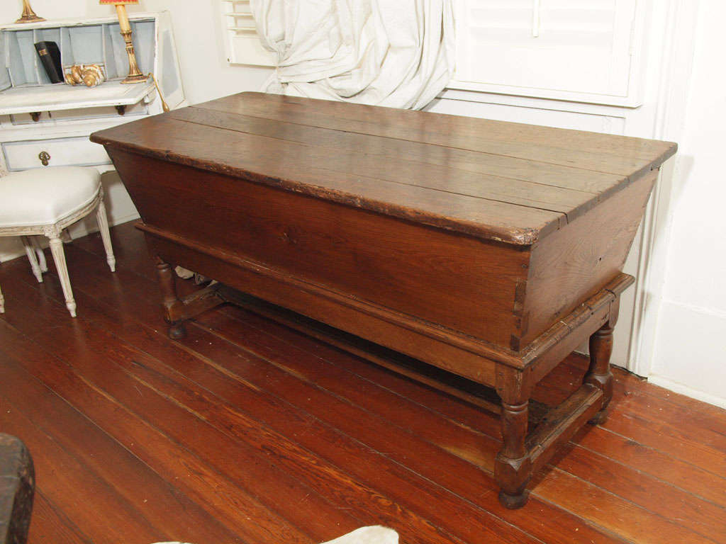 Antique French Kneading Dough Trough Or Box For Sale At