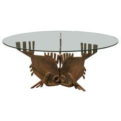 "Italian Bronze ""Tre-Pesci"" Coffee Table"
