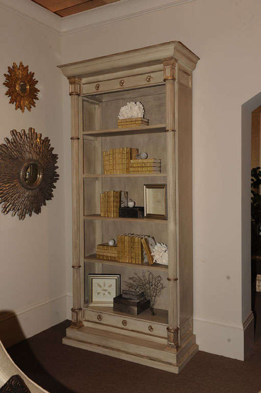 Candace Barnes Now Designed Neoclassical Bookcase For Sale at 1stdibs