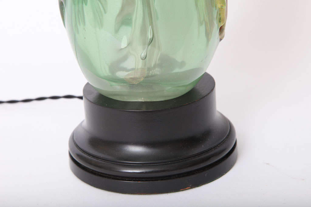 Mid-20th Century Italian 1940s Art Glass Lamp by Fratelli Toso For Sale