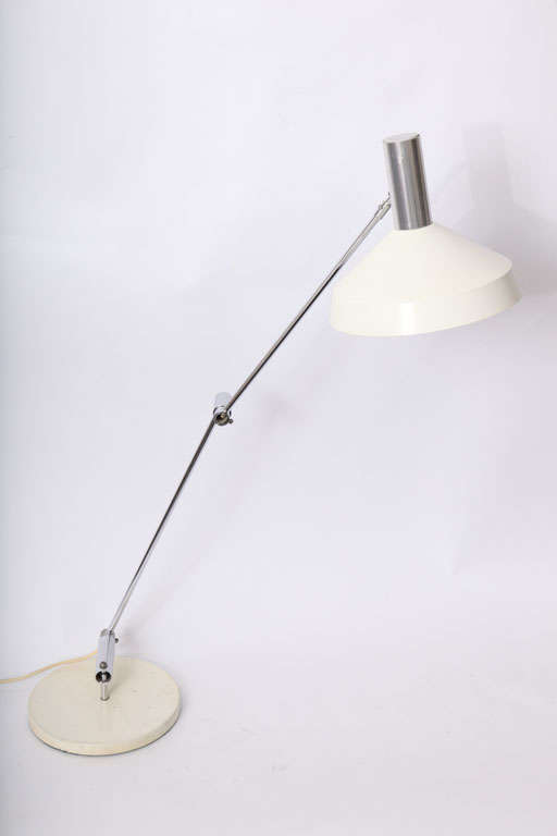 Swiss 1950s Articulated Table Lamp, Rico & Rosemary Baltensweller For Sale