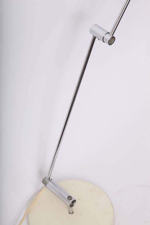 Metal 1950s Articulated Table Lamp, Rico & Rosemary Baltensweller For Sale
