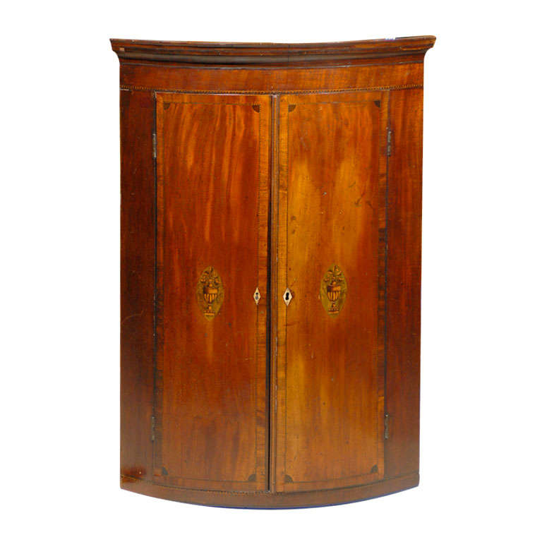 Rounded Hanging Corner Cabinet at 1stdibs