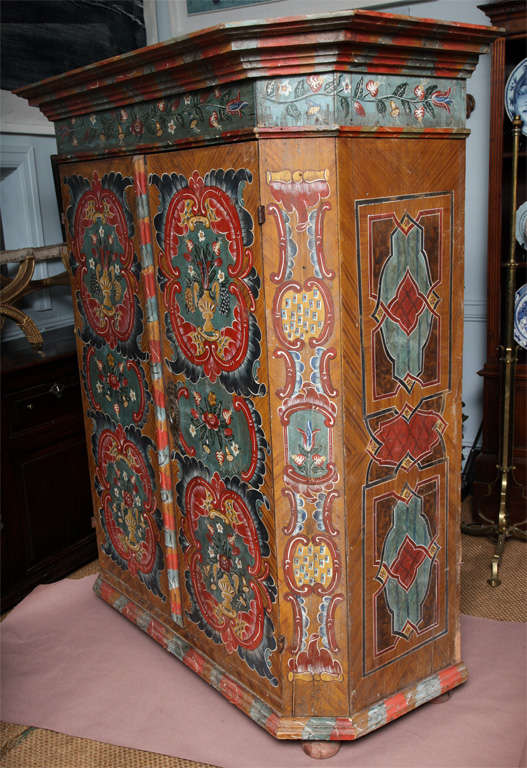 Austrian Painted Cabinet At 1stdibs