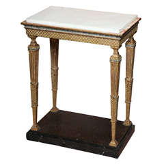 Swedish Gustavian Gilt and Painted Console Table