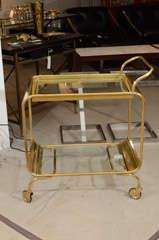 Italian Brass Bar Cart image 2