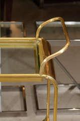Italian Brass Bar Cart image 3