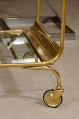 Italian Brass Bar Cart image 4