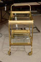 Italian Brass Bar Cart image 5