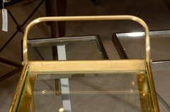 Italian Brass Bar Cart image 6