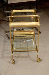 Italian Brass Bar Cart image 7