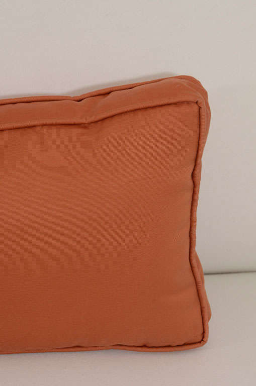 Extra Long Decorative Lumbar Pillow : Pair of Extra Long Italian Silk Burnt Orange Lumbar Pillows For Sale at 1stdibs