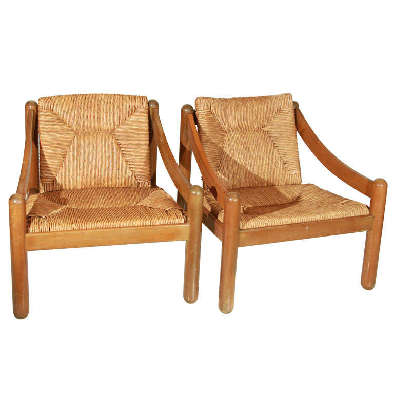 """Vico Magistretti for Cassina """"Carimate"""" Lounge Chairs at"""